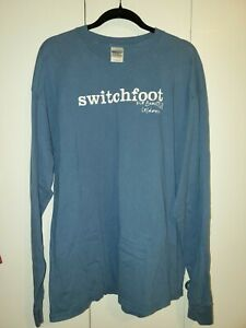 Switchfoot T shirt - the beautiful letdown XL blue long sleeved