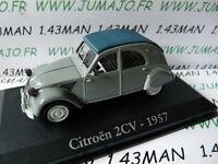 voiture 1/43 RBA Italie IXO : CITROËN 2CV 1957