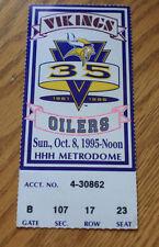 Minnesota Vikings Ticket Stub - October 8 1995 - Cris Carter 53rd 54th Career TD