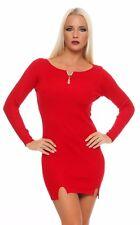 5282 Strickkleid LongPullover Minikleid Kleid in 6 Farben Gr. 36/38 .