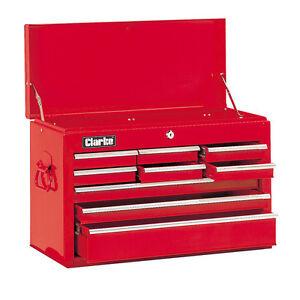 Cassettiera attrezzi acciaio 9 cassetti chiusura a chiave Clarke CTC900B 7636011