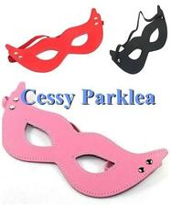 Black Red Pink Faux Leather Eyemask Bat Cat Woman Halloween Masquerade Ball Mask