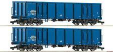 TT 2-teiliges Set offene Güterwagen Eanos CD Cargo Ep.VI Roco 37644 Neu!!!