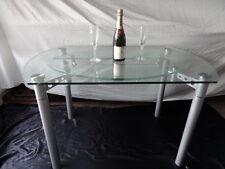 ART Deco Stile Rotondo Metallo cromato che si estende tavolo da pranzo 4 posti a sedere