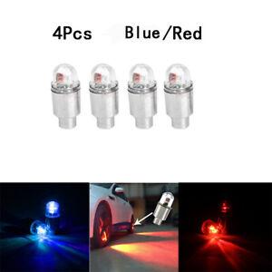 4Pcs Car Auto Accessories Wheel Tire Tyre Air Valve Stem LED Light Caps Cover