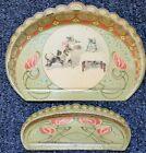 Rare Antique Art Nouveau Tin Litho Crumb Catcher Tray & Scraper Cat & Kittens