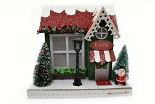 Pier 1 Holiday House Lighted Led Christmas Village Light Up New - Cafe