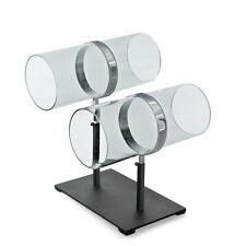 For Sale Dual Adjustable Pole Acrylic & Chrome Headband Counter Display Rack