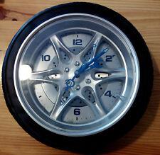 Reloj decorativo de pared con forma de rueda - Wall Clock with wheel shape