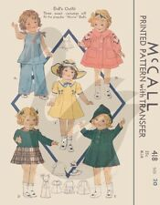 Reproduction Vintage Shirley Temple Dolls Clothes Sewing Pattern M418 20""