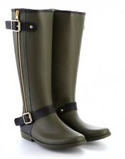 Womens Green Pipduck Designer Wellie Boot, 3.5 & 7.5 - RRP £100, Now only £30!