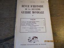 Revue d'Histoire de la deuxième Guerre Mondiale N°23 Juillet 1956