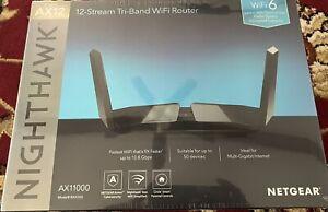 NETGEAR Nighthawk Tri-Band AX12 12-Stream Wi-Fi 6 Router (RAX200-100NAS) - New