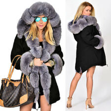 Roiii Winter Womens Thick Coat Hooded Parka Ladies Warm Jacket Outwear Overcoat