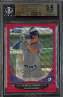 BGS 9.5 w/10 AARON JUDGE 2013 Bowman Chrome RED WAVE REFRACTOR RC #/25 GEM MINT