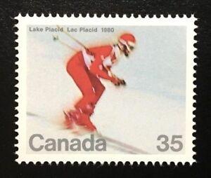 Canada #848 MNH, Winter Olympics - Downhill Skier Stamp 1980