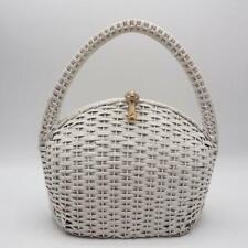 Vintage Koret Italian Wicker Straw Purse Handbag