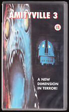 AMITYVILLE 3 (3-D) - A NEW DIMENTION IN TERROR! - VHS PAL (UK) VIDEO - RARE