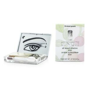 Clinique All About Shadow Duo - # 10 Mixed Greens 2.2g Womens Make Up