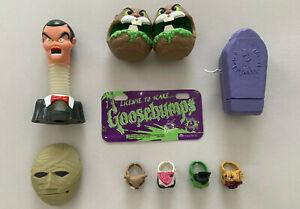 Vintage Goosebumps Bike License Plate Ring Taco Bell Mummy Hamster Slappy Toys