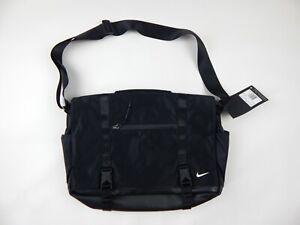 $135 Nike Elite Eugene Premium Leather Messenger Laptop Bag PBZ745-010 New