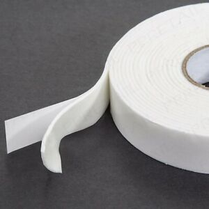 4m STRONG DOUBLE SIDED FOAM TAPE White Padded Adhesive Fixing Thick Sticky Pads