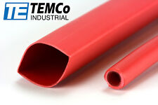 "10 Lot Temco 3/4"" Marine Heat Shrink Tube 3:1 Adhesive Glue Lined 12"" long Red"