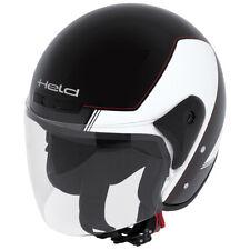 HELD Heros Jethelm Touren Helm schwarz weiß Gr. S = 55/56 Rollerhelm mit Visier