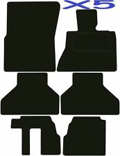 Tailored Deluxe Quality Car Mats Bmw X5 7 Seater 2006-2013 ** Black **