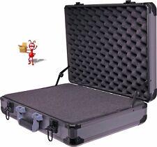 495x365x128mm Black Aluminium Laptop Case