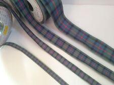 40mm Berisfords Polyester Tartan Ribbon 17 Tartans 5 Lengths Flower of Scotland 40m X 2mtrs