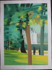 Alfred DEFOSSEZ - Lithographie signée EA promenade au château lithograph **