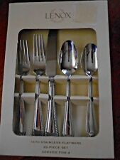 Lenox Stainless BEAD 20 Piece Service for 4 Flatware Unused 18/10 China