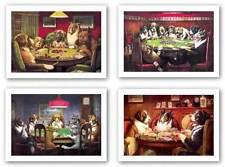 A Bold Bluff-Poker Sympathy-A Friend In Need-Post Mortem Set CM Coolidge 13x9