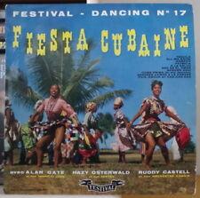 FIESTA CUBAINE ALAN GATE/OSTERWALD/RUDY  CASTELL 25 cm FRENCH LP FESTIVAL