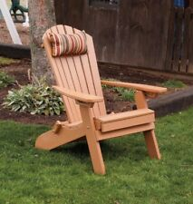 A&L Furniture Amish-Made Folding Poly Adirondack Chairs w/ Ottoman, in 13 Colors