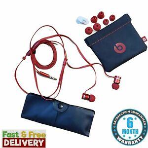 Genuine Beats by Dr Dre iBeats urBeats Earphones In-Ear Headphones Chrome Red