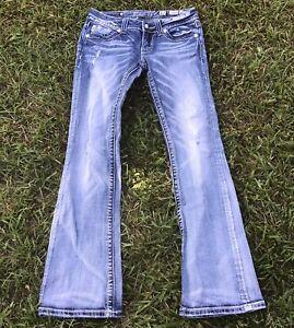 Miss Me Jeans Women's 27 Miss Me Bootcut JW5416B Aztec Embellished Rhinestones