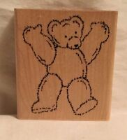 JRL Design Q299 Standing Bear Stamp Wood