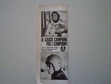 advertising Pubblicità 1973 CASCO AGV e GIACOMO AGOSTINI/RENZO PASOLINI