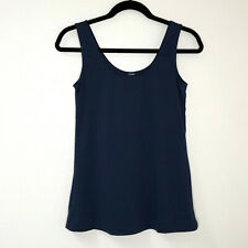 Flexees Maidenform XL Navy Dark Blue Tank Top Sleeveless Shapewear Layer Scoop