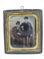 Schöne alte Daguerreotypie / Fotografie 19. Jhdt. Halbetui  9,5 x 8,3 cm   08453