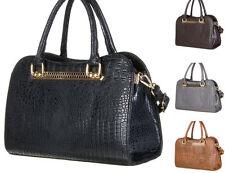 Markenlose Damentaschen mit Kroko-Prägung