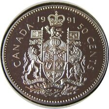 elf Canada 50 Cents 1991 Proof  Elizabeth II
