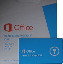 Microsoft OFFICE 2013 Home & Business Dauerhafte Vollversion Box ML MUI Deutsch
