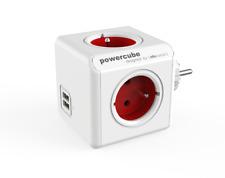 Allocacoc PowerCube Original USB RED Type E Socket Multiplier 2xUSB