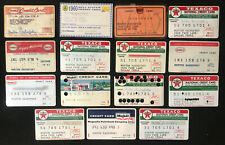 15 Vintage Store Credit Charge Cards TEXACO GULF HUMBLE Gas Oil BELL SYSTEM LOT