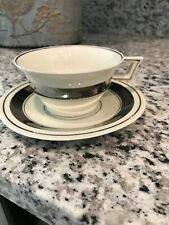 THEODORE HAVILAND LIMOGES CUP & SAUCER, PLATINUM BAND