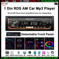 1 Din Autoradio MP3 Player App Control Voz para Siri AI Desmontable BT FM RDS AM