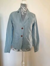 BNWT Women's ROXY blue Cotton Striped Button Smart Casual Blazer Jacket Size M